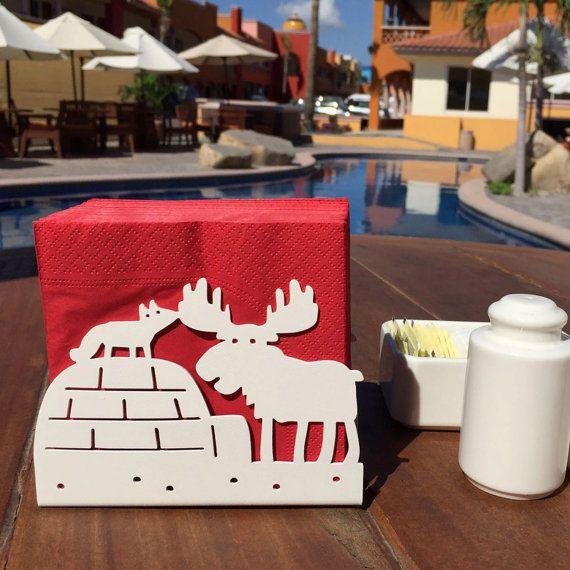 Moose Napkin Stand / Fox Napkin Stand / Moose Napkin Holder /