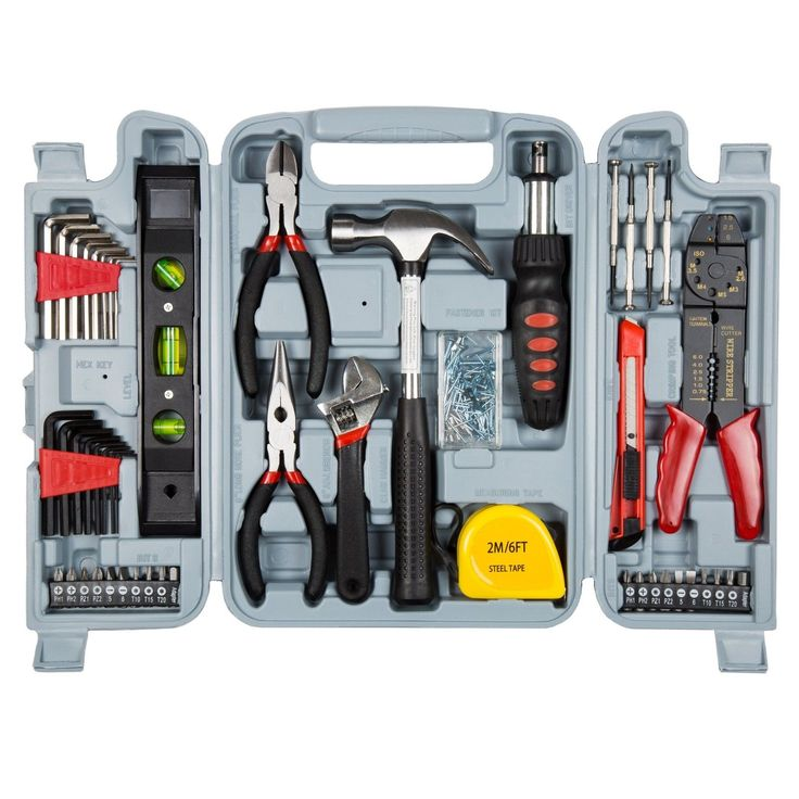 Heavy Duty Garage Household Improvement Hand Power Tools Set Repair Kits 130 Pcs
