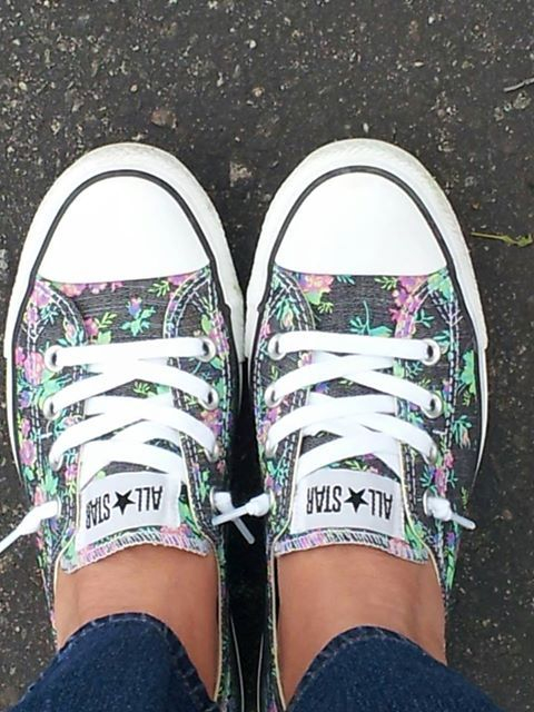 Floral Converse. So cute for Spring! Follow this link to try #StitchFix www.stitchfix.com...