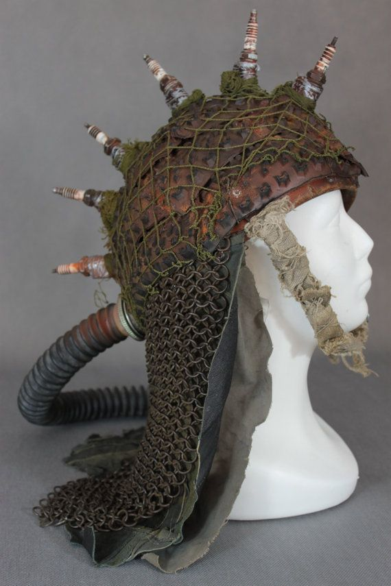 Post Apocalyptic Helmet - Post apocalyptic Armor - Hedgehog helmet