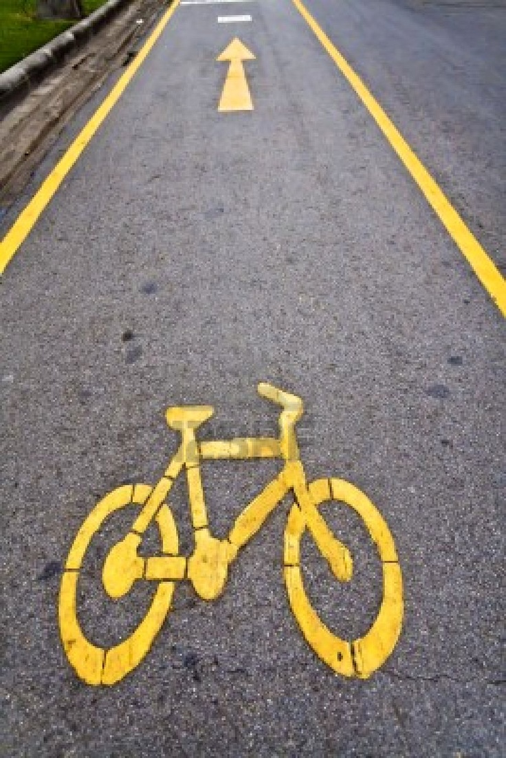 Yellow Bike Path