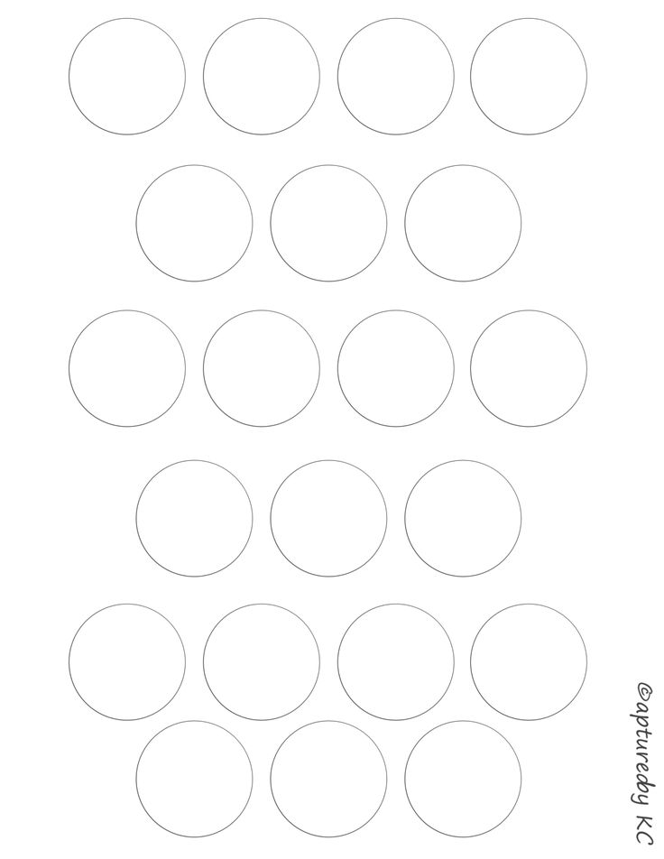 Free Bottle Cap Template Sheet 8.5x11