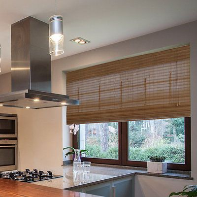 Blinds and Shades 20585: Radiance Westside Collection Bamboo Roman Shade Pecan Finish -> BUY IT NOW ONLY: $83.99 on eBay!