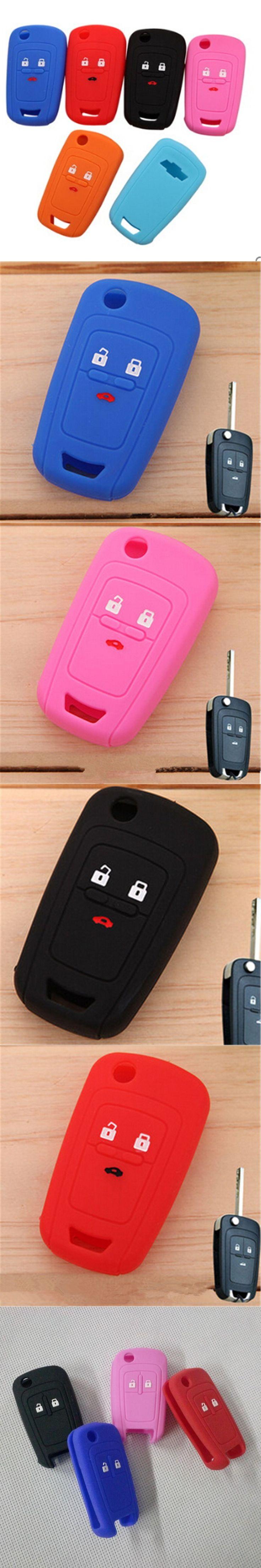 Silicone car key cover key protector keychain case for Chevrolet Cruze TRAX Lova Spark Onix Silverado Volt Camaro Aveo Sail