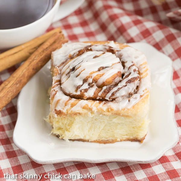 Cinnamon Rolls   Tender, buttery dough filled with brown sugar and cinnamon and drizzled with a simple glaze