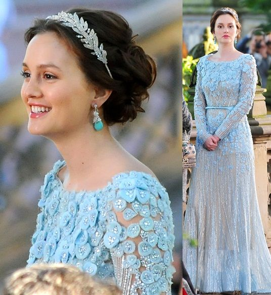 this is blair's wedding dress from the series finale of gossip girl. i passed out.  Elie Saab dress with Jennifer Behr headband