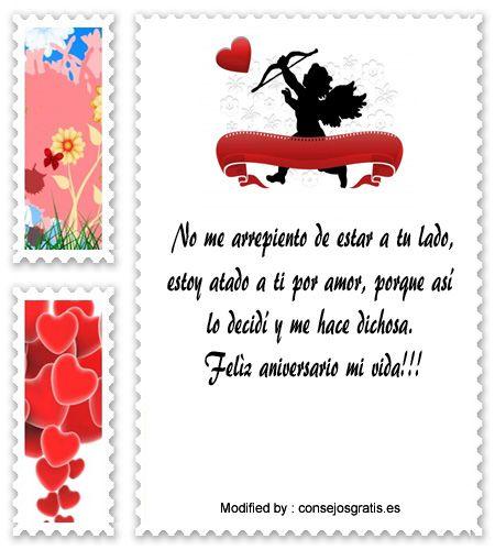 saludos de aniversario,sms bonitos de aniversario: http://www.consejosgratis.es/lindos-mensajes-de-aniversario-para-mi-pareja/