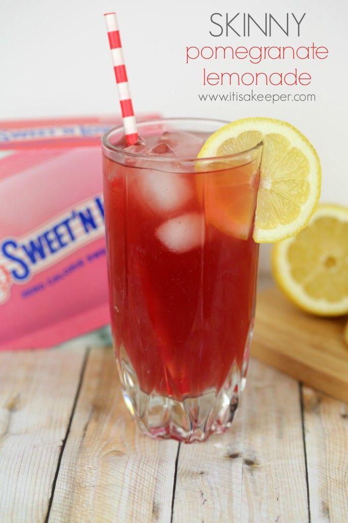 Super Easy Recipes Skinny Pomegranate Lemonade from It's a Keeper