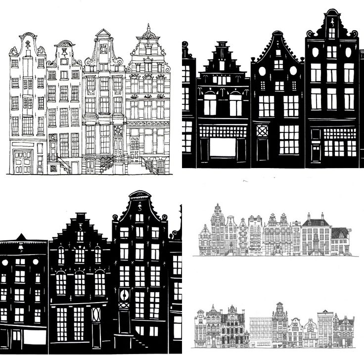 Amsterdam Architecture Art Drawing