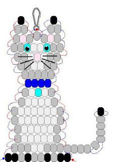Cat pony bead pattern - Crafts 4 Camp