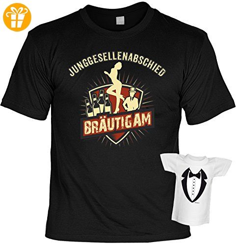 Fun T-Shirt für Junggesellenabschied - Bräutigam - JGA - Hochzeit - Ehe - Farbe: schwarz (*Partner-Link)
