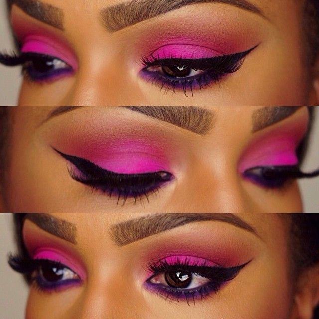 Pink Eye Makeup For Dark Skin Makeup Vidalondon