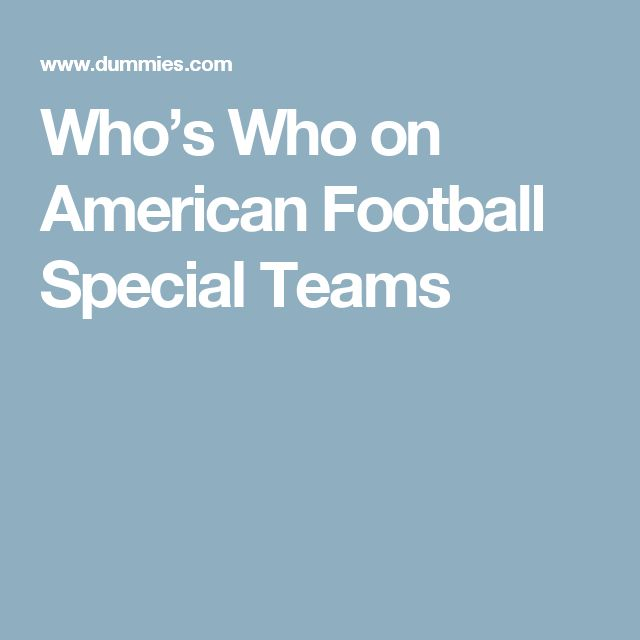 Epic Who us Who on American Football Special Teams