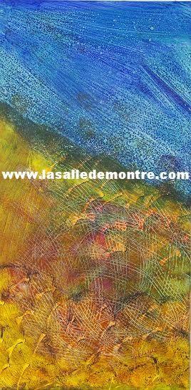 Francine Lévesque, artiste LSDM Partir autrement 12 x 24 //  165 $  http://lasalledemontre.com/francine-levesque-1/partir-autrement