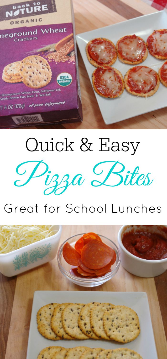 (sponsored) Quick and Easy Pizza Bites, Back to Nature, Homemade Lunchables, Pizza Kit, School Lunch
