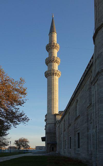 Mimar Sinan, Minaret, Süleymaniye Mosque, Istanbul, 1558