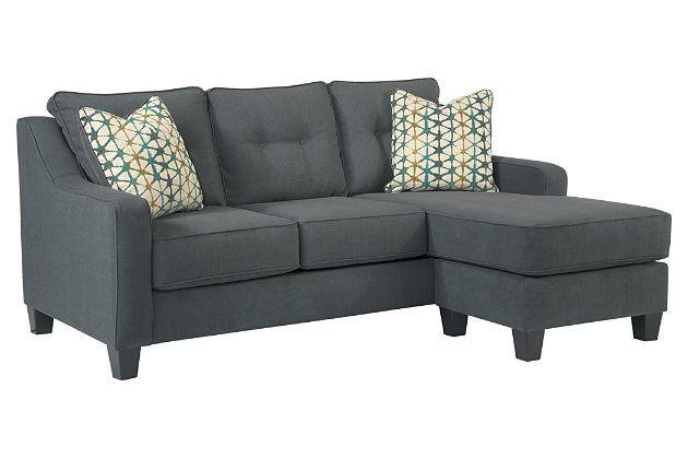 Dark gray shayla sofa chaise width 80 39 39 depth 60 Sofa depth