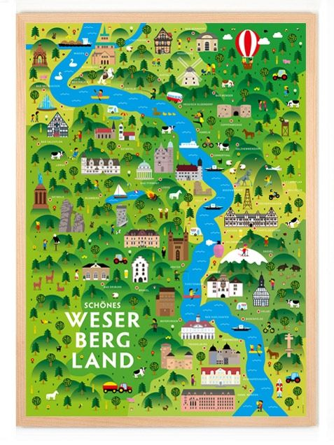 Schönes Weserbergland Poster (50 x 70 cm) Poster