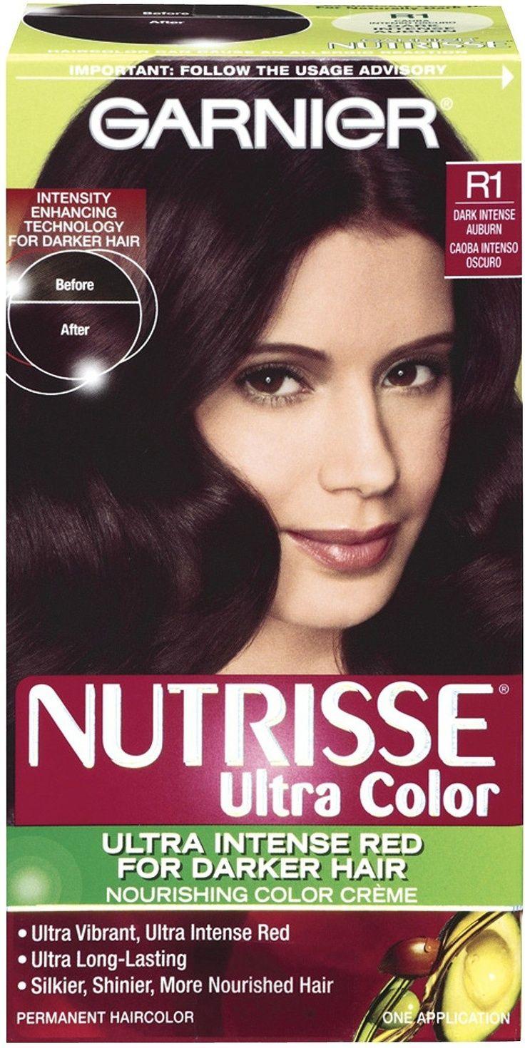 Pin Garnier Nutrisse Hair Color Black Cherry Deep Burgundy ...