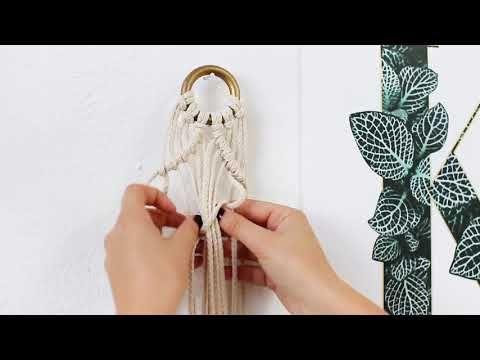 JO & JUDY // DIY Macrame Plant Hanger - YouTube