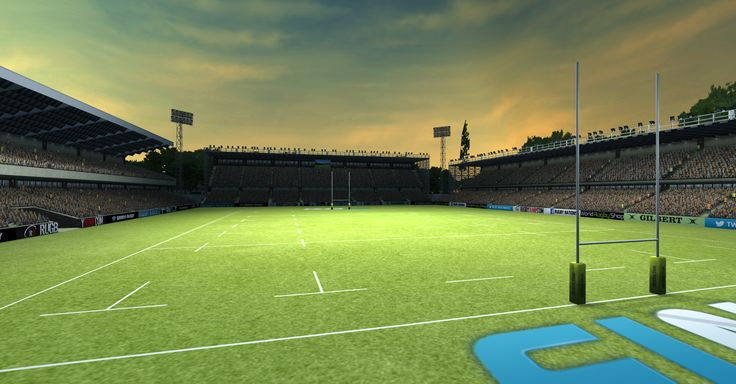 Check out this Rugby Nations 15 scene - what a beaut! #Rugby #Union #Nations #Screenshot #IndieDev #RWC2015 #Stadium #Sports #Sunset #mobile #Video #games