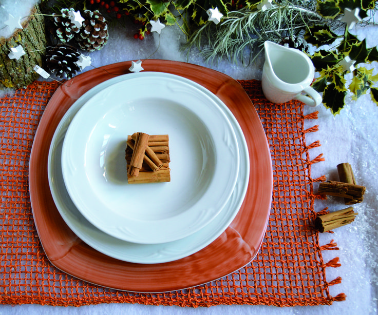 #Cannella: perché non utilizzarla anche come decorazione per la tavola, per darle quell'atmosfera calda e speziata? #natale #porcellana