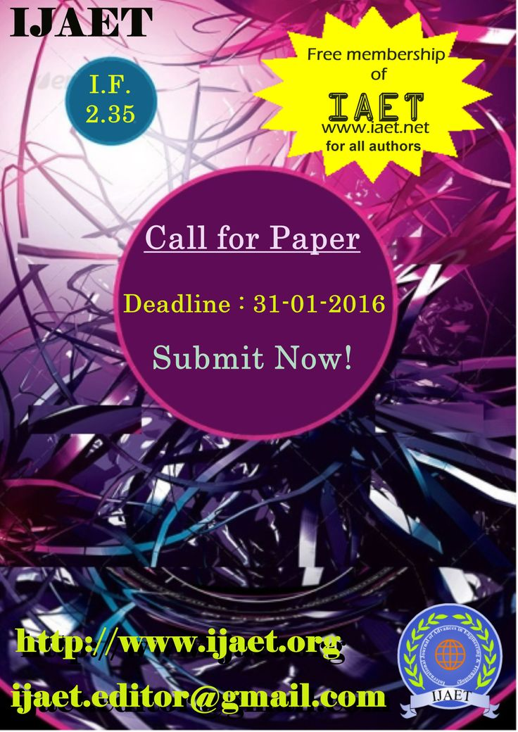 Call for Papers, Submissions Invited, CFP Engineering, Call for Research Journal, International Journal of Advances in Engineering & Technology (IJAET) globally welcomes research scholars & scientists from different domains in its realm of Open Access Publication.