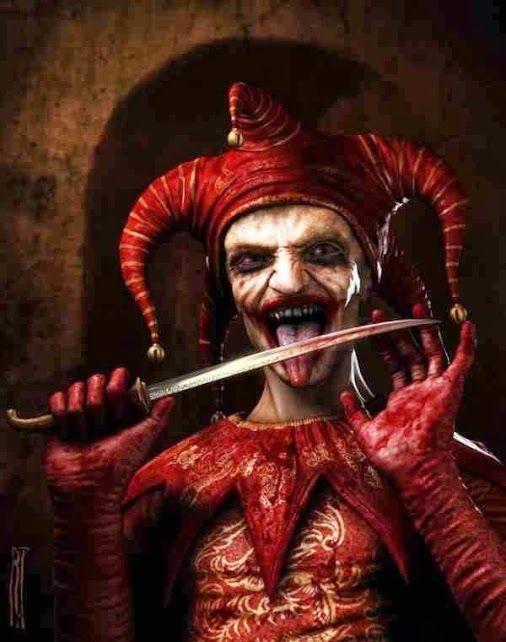Evil jester #clowns #evil_clowns #scary