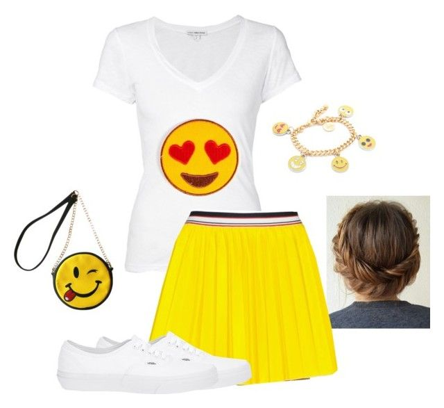 """Emoji Halloween costume "" by itsselah ❤ liked on Polyvore featuring James Perse, Anna K, Vans, Venessa Arizaga and OLIVIA MILLER"