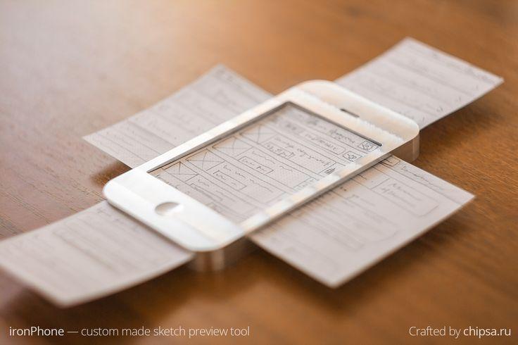 Croquis et Wireframes ironPhone par ChipsaDesign