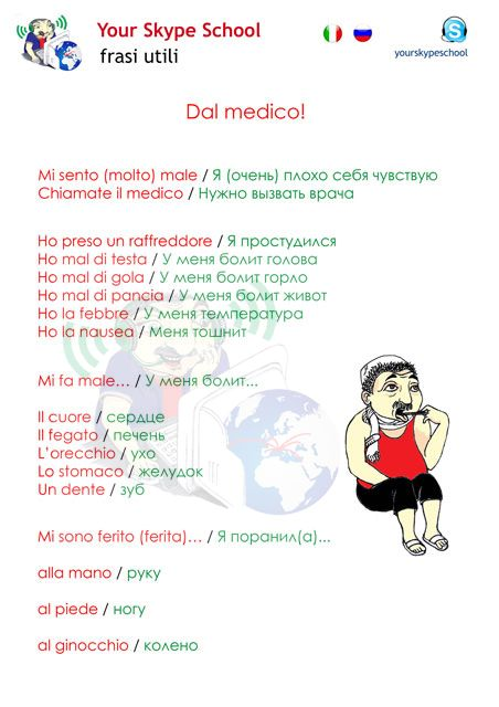dal medico - #yourskypeschool #materiali #utili