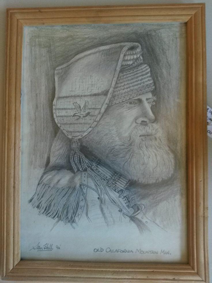 Drawing of an American Mountain Man