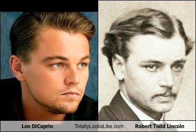 Leonardo DiCaprio totally looks like Robert Todd Lincoln.