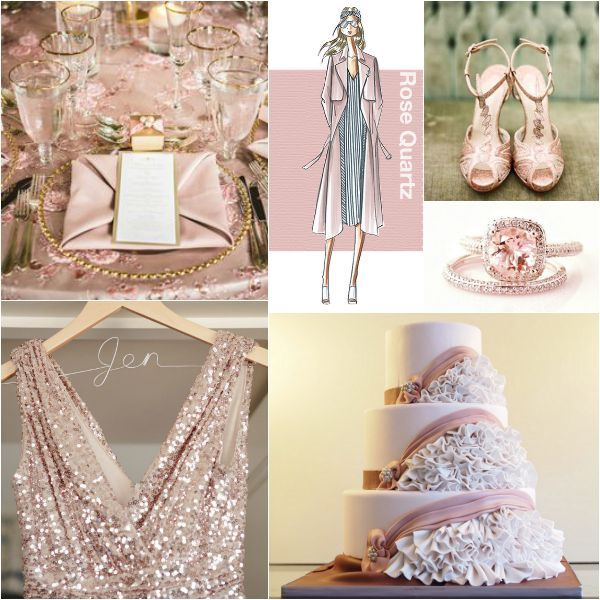 2016 Top Colors from Pantone - Rose Quartz Color Theme Ideas for a Wedding, Mitzvah or Party - mazelmoments.com