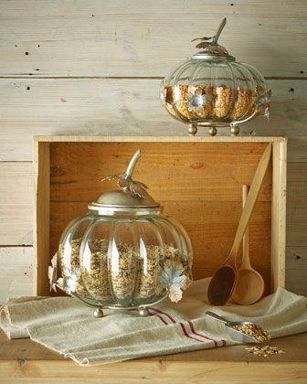 Janice Minor Glass Squash Jars