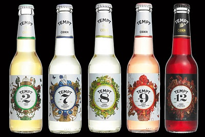 The pretty bottles for Tempt Cider