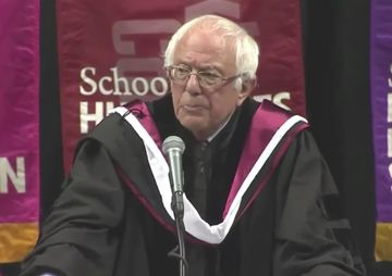 At Brooklyn College, which he once attended, the Vermont senator urges graduates to fight back.  - 2017/05/31