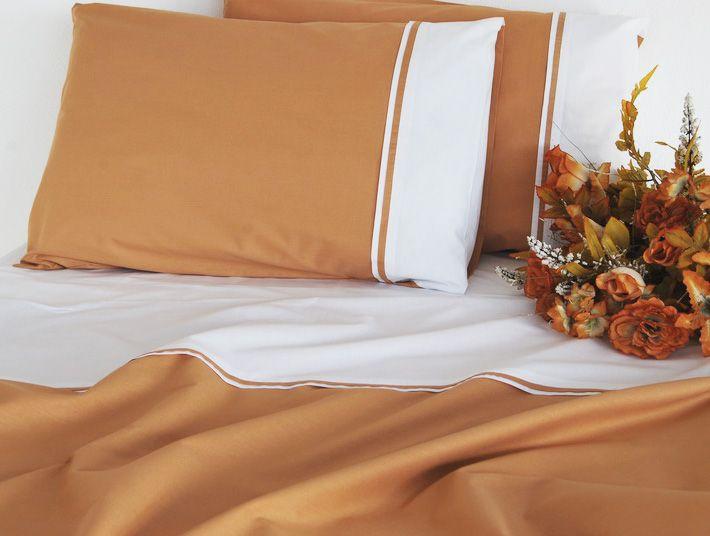 Lenjerie de pat din bumbac Valentini Bianco VKR20 Brown