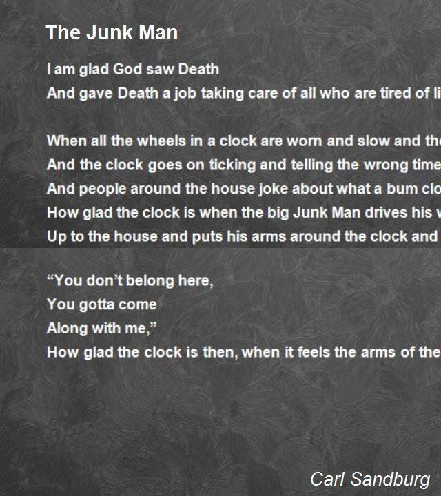 the junkman carl sandburg | The Junk Man Poem by Carl Sandburg - Poem Hunter Comments
