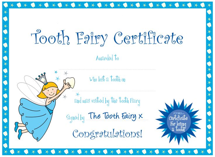 Clipart Tooth Fairy Certificate