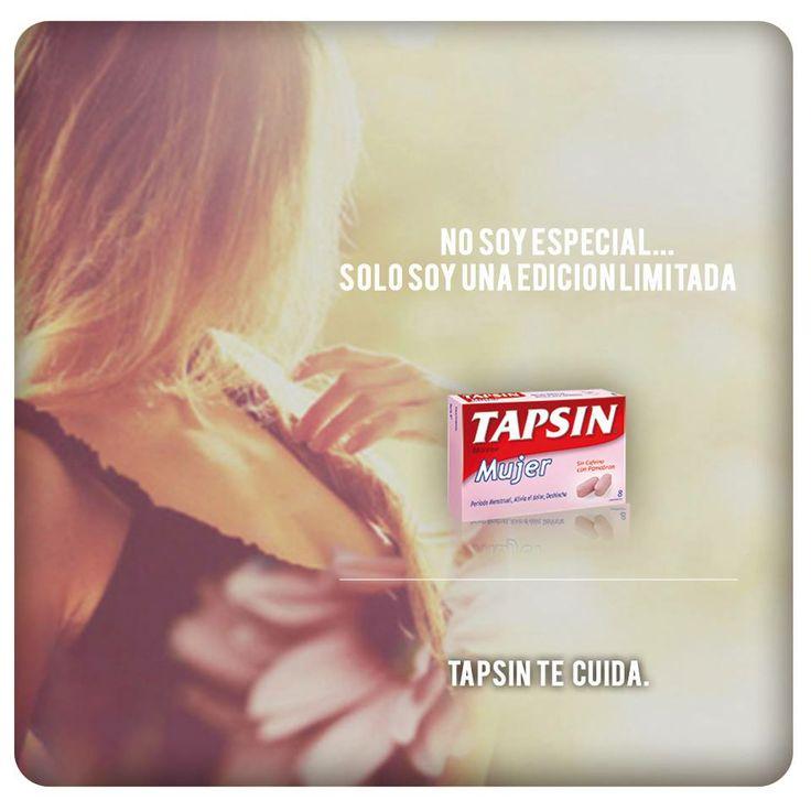 ¿Sabías que Tapsin Mujer alivia el dolor y también deshincha? Contiene Pamabróm, un componente diurético.  #TapsinTeCuida