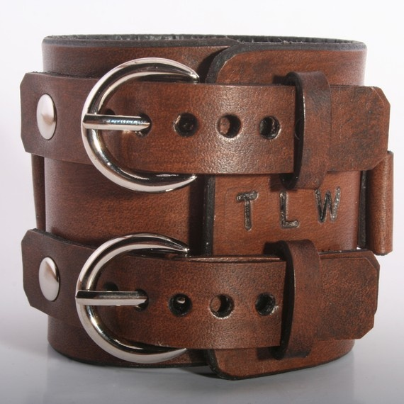 Depp Style Brown Leather Cuff