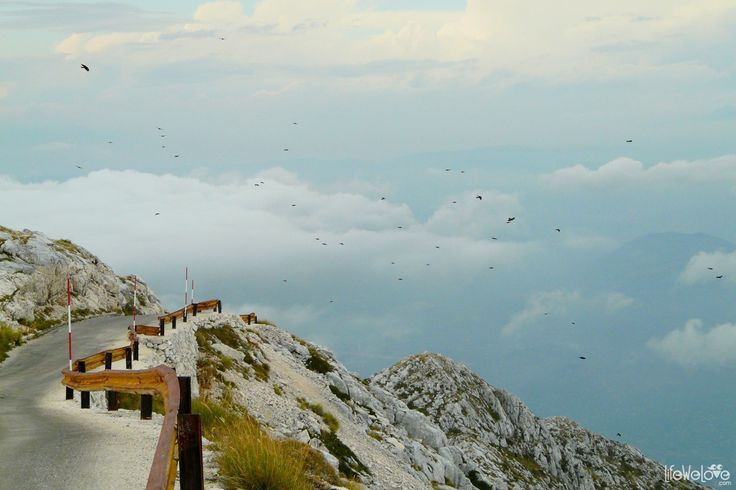 Sveti Jure - motorcycle climbing above the clouds - LifeWelove