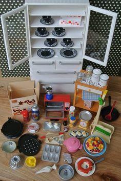 Re ment White Cabinet Secret Red Toaster Oven Kitchen Cooking Teaset Lot | eBay