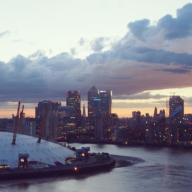 View from the Emirates Airline #emiratesairline #londonskyline…