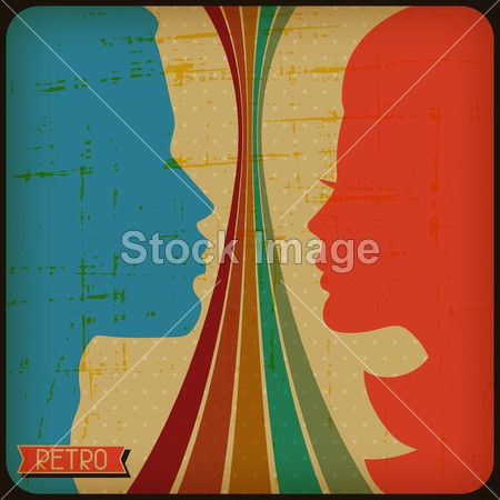 Retro poster with abstract grunge background.