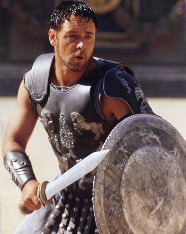 """Maximus Decimus Meridius - Nos morituri te salutant!""""  -  """"We, who are about to die, salute you"""".  Used by gladiators about to enter battle when speaking to the Roman emperor"""