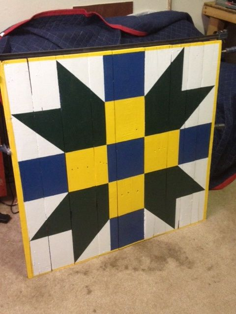 barn quilt sign made from old wood, crafts, repurposing upcycling, woodworking projects, Ready to hang on Barn or dwelling