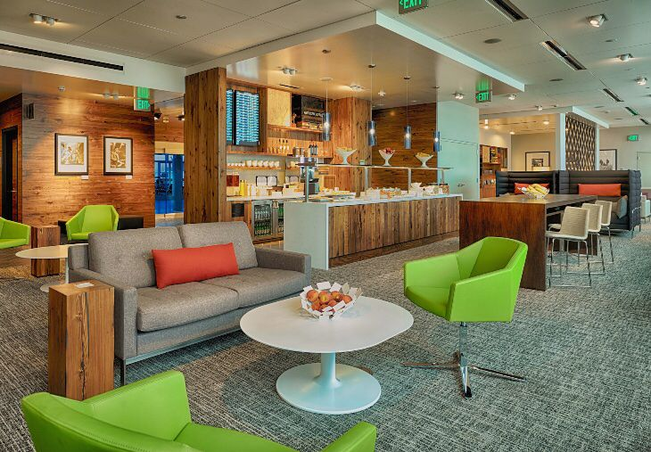 New #Amex mini-lounge at #Seattle airport just opened