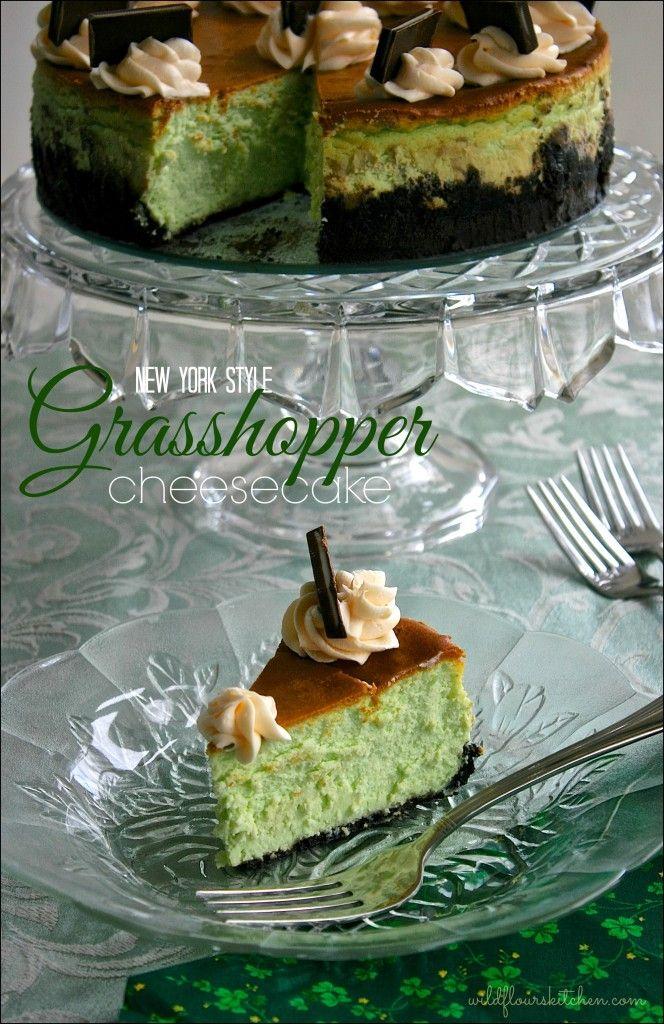 New York Style Grasshopper Cheesecake